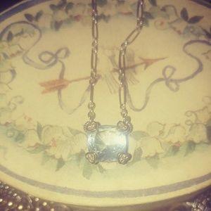 Gorgeous Judith Ripka Light Blue Topaz sterling &
